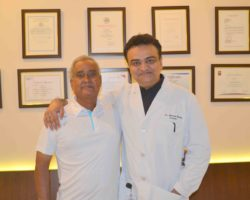 Dr. Mody With Patients